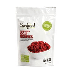 Sunfood, Sun-Dried Goji Berries, 8 oz (227 g)