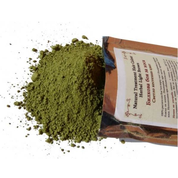 Herbal hair dye Light brown color x100g