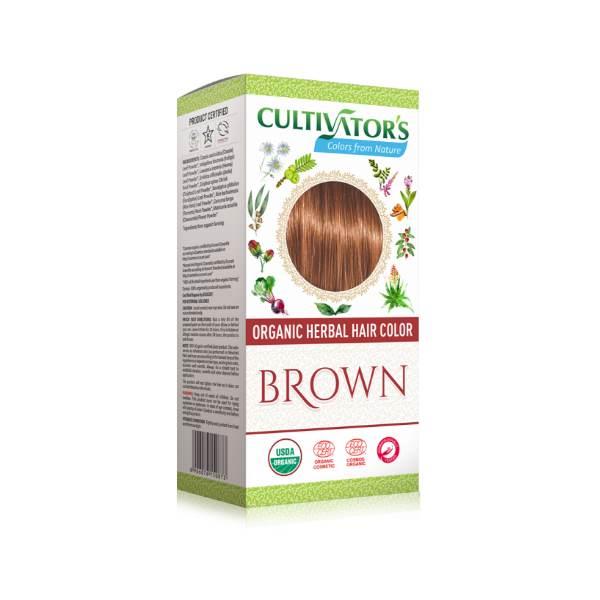Organic herbal hair dye brown Cultivator's x100g