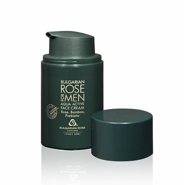 BULGARIAN ROSE FOR MEN FACE CREAM AQUA ACTIVE x50 ML
