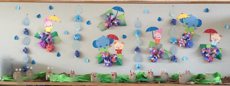 幼稚園 壁面