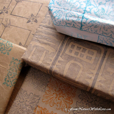 Holiday Projects: Upcycled Gift Wrap