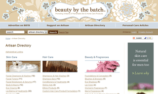The Beauty By the Batch Artsan Directory