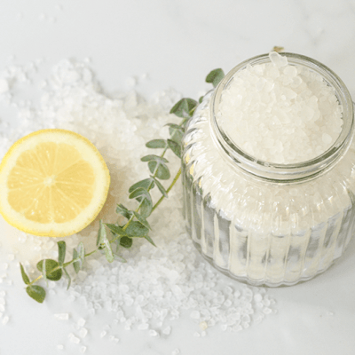 Energizing Bath Salts with Eucalyptus and Citrus