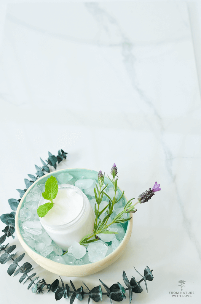 Make Your Own Menthol Eucalyptus Foot Cream- An invigorating lotion for tired and cranky feet