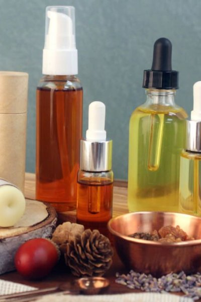 Three finished natural beauty products