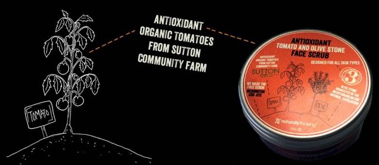 Mircobead free face scrub with Tomato and Olive Stone