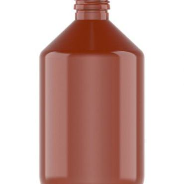 500ml Amber Apothecary Style Plastic Bottle 28mm neck PET Plastic