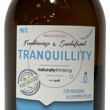 Tranquillity Massage Oil for a relaxing and peaceful massage