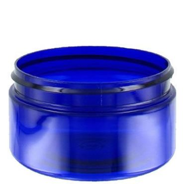 Blue Plastic Jar for cosmetics made from PET Plastic