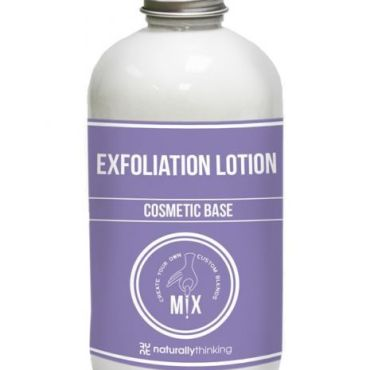 Exfoliate lotion cosmetic base for the addition of oils and actives to produce a skincare brand