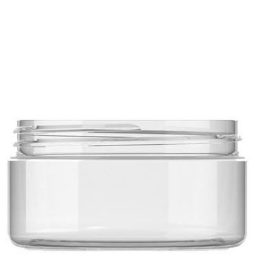 200ml clear plastic jar for cosmetic and aromatherapy use
