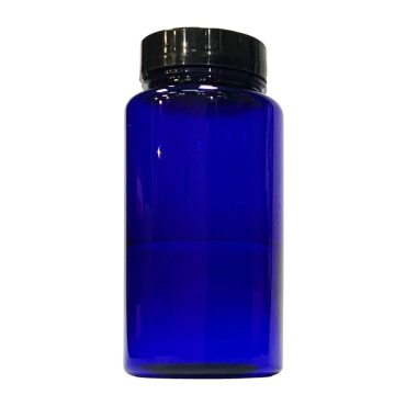 150ml Blue Plastic Jar with 38mm Black Plastic lid