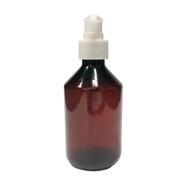 28mm Amber Veral Plastic bottle with 28mm atomiser