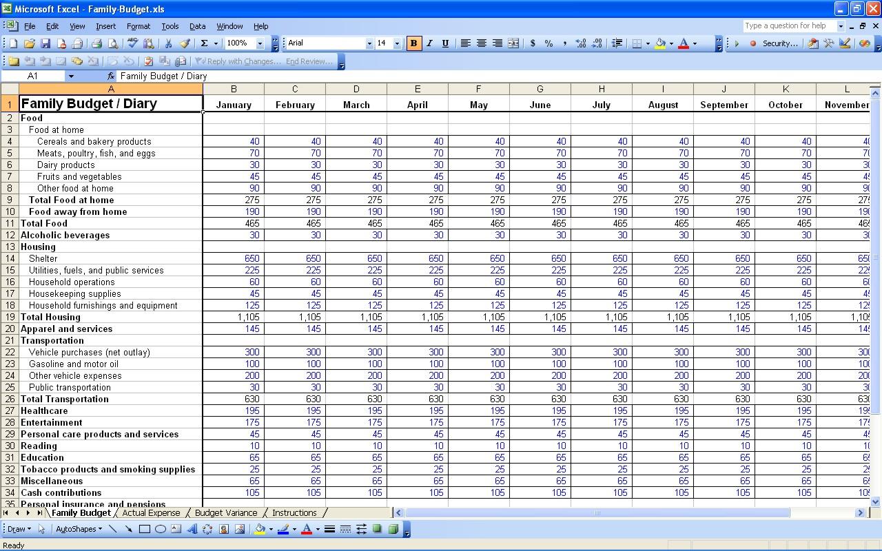 Tracking Spending Spreadsheet