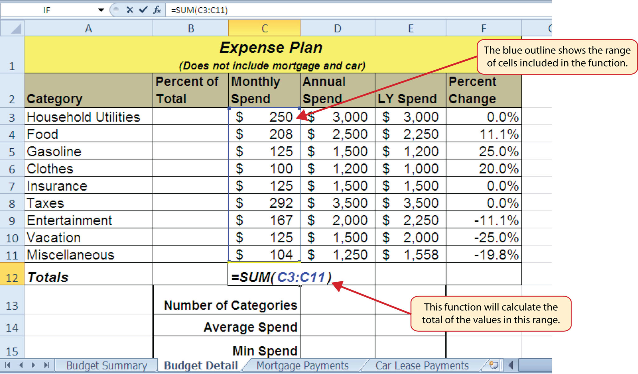 Excel Spreadsheet Lessons Free
