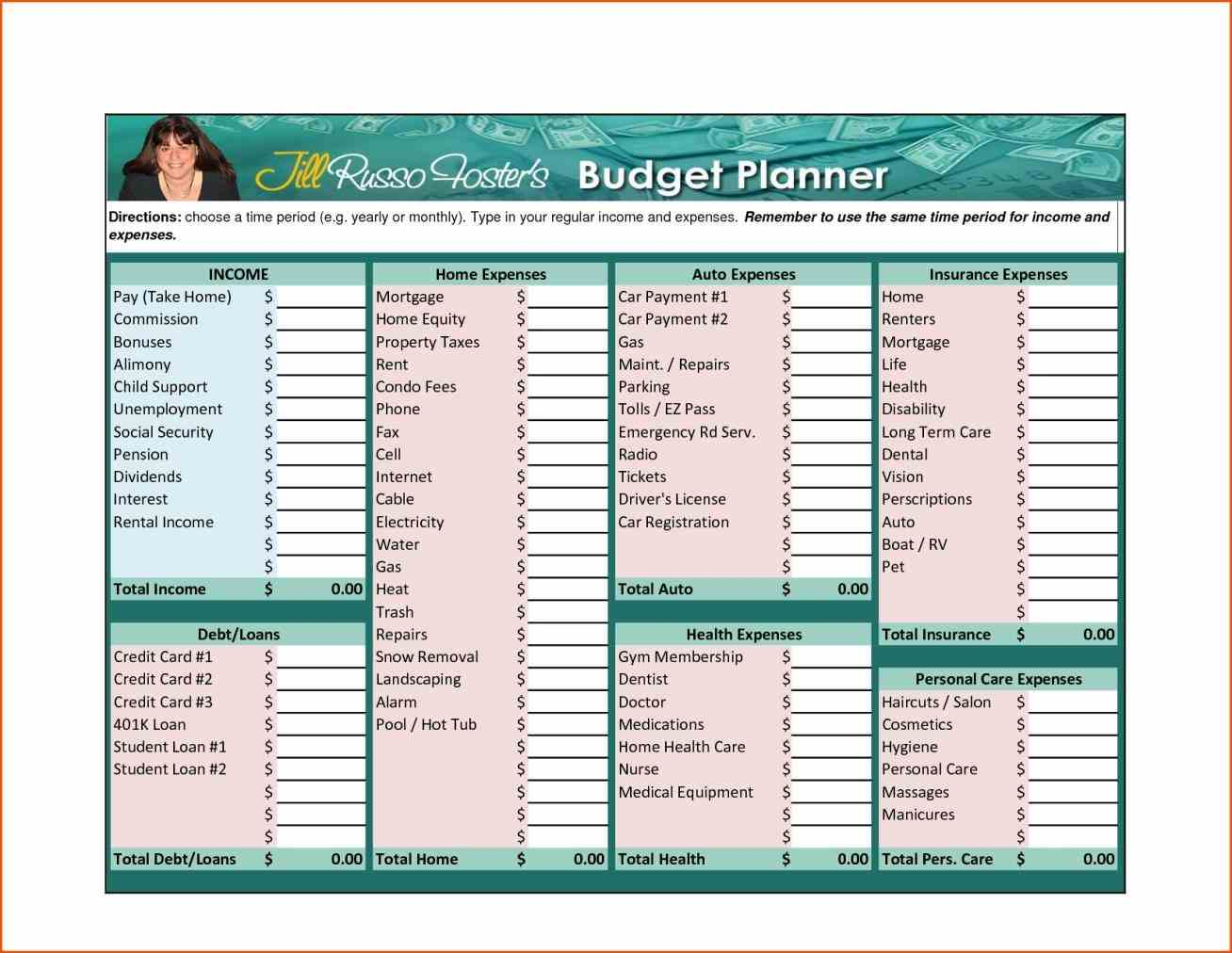 Monthly Household Expenses Template Excel