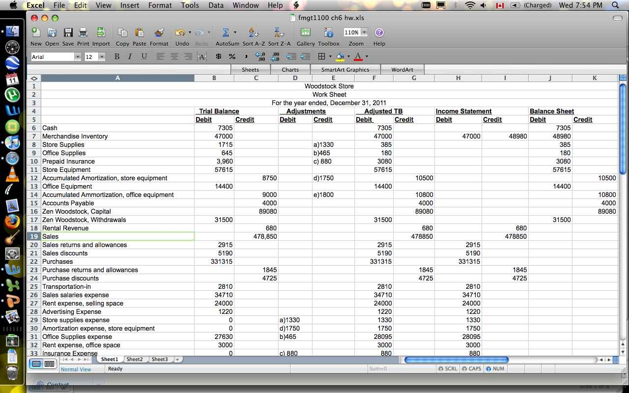 Cash Flow Projections Spreadsheet