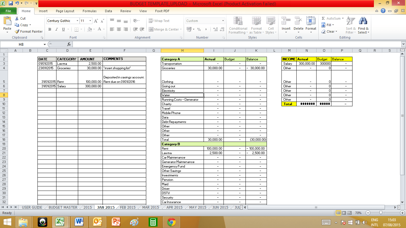 Excel Templates For Church Contributions