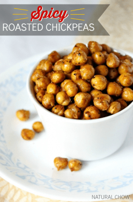 Spicy Roasted Chickpeas   Natural Chow   http://naturalchow.com