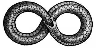 A atual representação do símbolo do infinito remete a serpente ouroboros