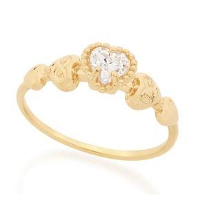 anel Rommanel solitário 512443