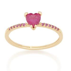 anel Rommanel solitário 512728