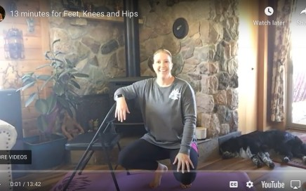 13 minutes for hips knees & feet