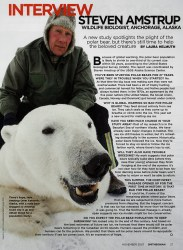 Cover of 2007 November Smithsonian: Interview with Steven Amstrup