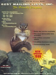 Cover of 1999 Best Mailing Lists, Inc.