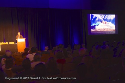 Art Wolfe presenting during his Life Time Achievement Award. NANPA 2013 Conference in Jacksonville, Florida