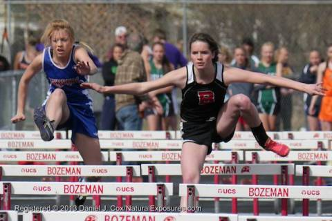 The Bozeman Hawks host a regional track and field meet in Bozeman, Montana.