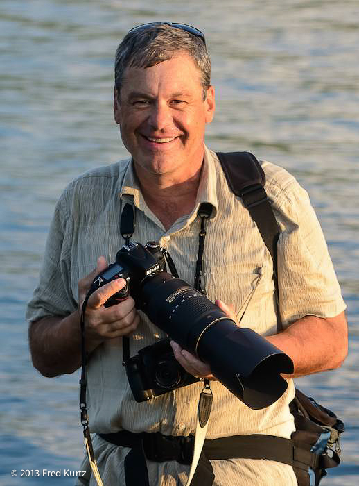 Daniel Cox in the Galapagos with the new nikon 80-400mm attached to a D600.