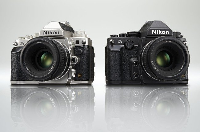 These are two samples, one silver and one black, of what is purported to be the new Nikon DF camera.
