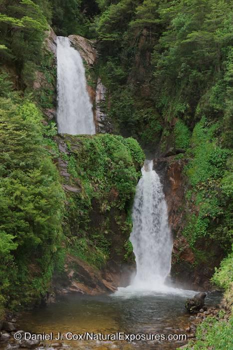 Cascada La Virgen, waters falls outside of Puerto Chacabuco, Chile
