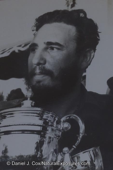 A photo of Fidel Castro I shot in a local restaurant. Cojimar, Cuba