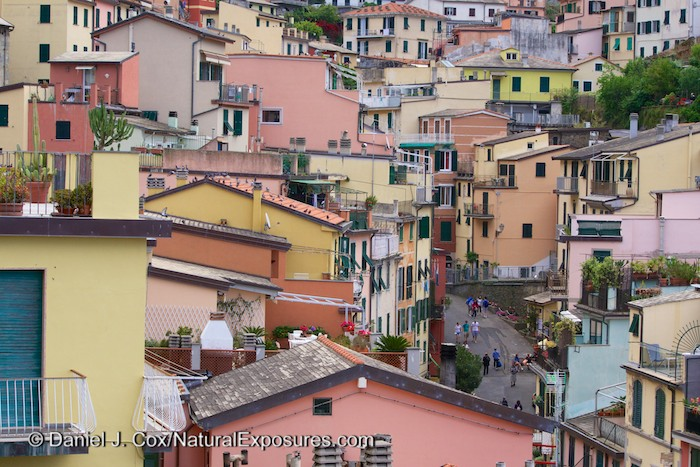 The seaside village of Manarola, one of the villages in the Cinque Terre region, Italy. Lumix GH4 with 45-175mm lens