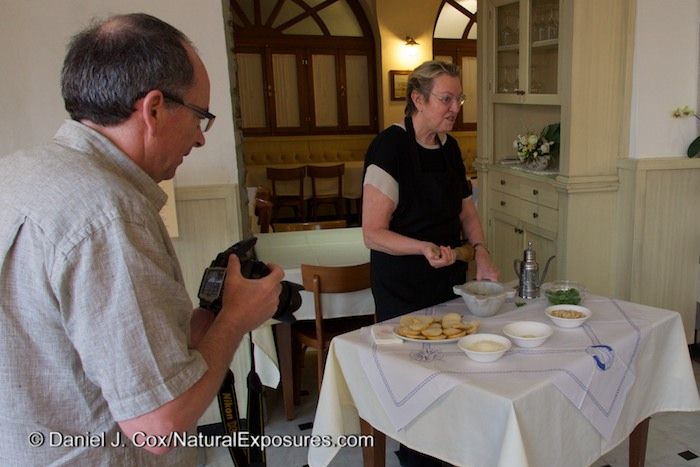 Rob moves in for the shot during our private demonstration on the culinary art of Pesto creation. It was delicious. GH4 with 7-14mm lens.