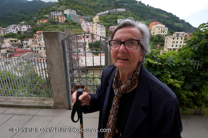 A local resident of Monterosso ion her way to the local market. Italay