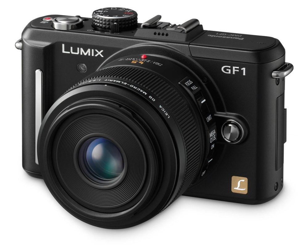 this is the original MFT camera that started the whole transition for me. It's the Lumix GF1, interchangeable MFT camera with an attached 42.5 macro lens. Photo courtesy of Imaging-Resource.com