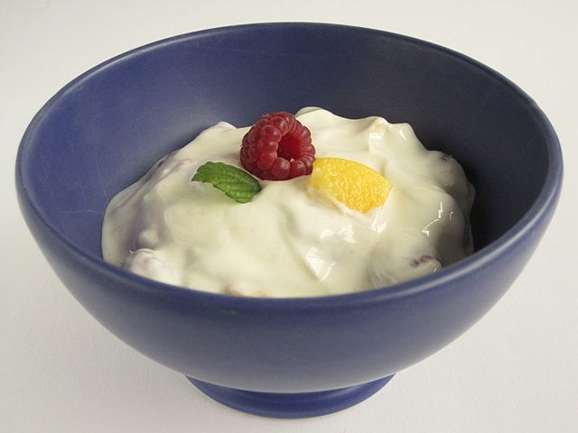 "Foods like live-cultured yogurt can be an easy way to add probiotics to your diet. Photo: ""Obstjoghurt01"" by Schwäbin (Wikimedia)License: CreativeCommons by-sa-3.0-de (deed). Licensed under CC BY-SA 3.0 de via Wikimedia Commons -"