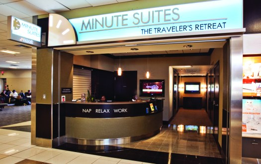 Minute Suites offer travelers a place to nap, relax, and work. Photo: Minute Suites