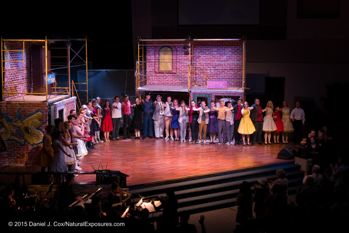 The cast of west side story takes a bow. Lumix G7 with 14-140mm. ISO 800