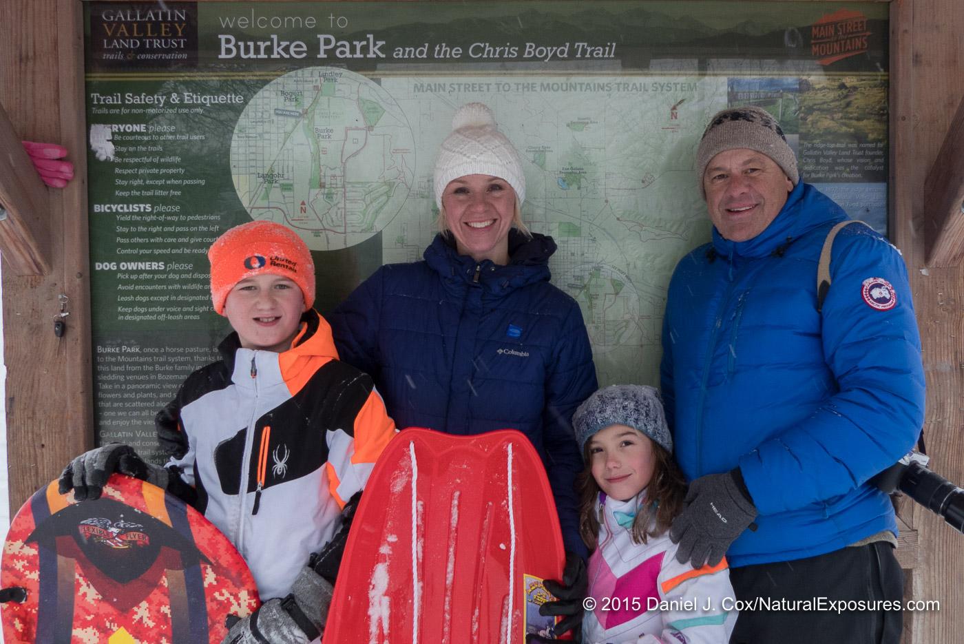 Isaac, Sonya, Isabella and me. Pete's Hill, Bozeman, Montana