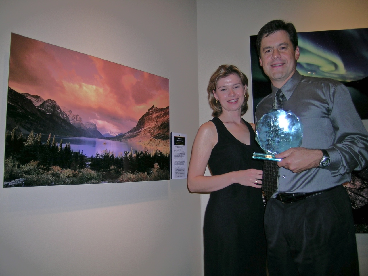 Daniel and Tanya at the Nature's Best photography awards in 1997 in Washington DC.