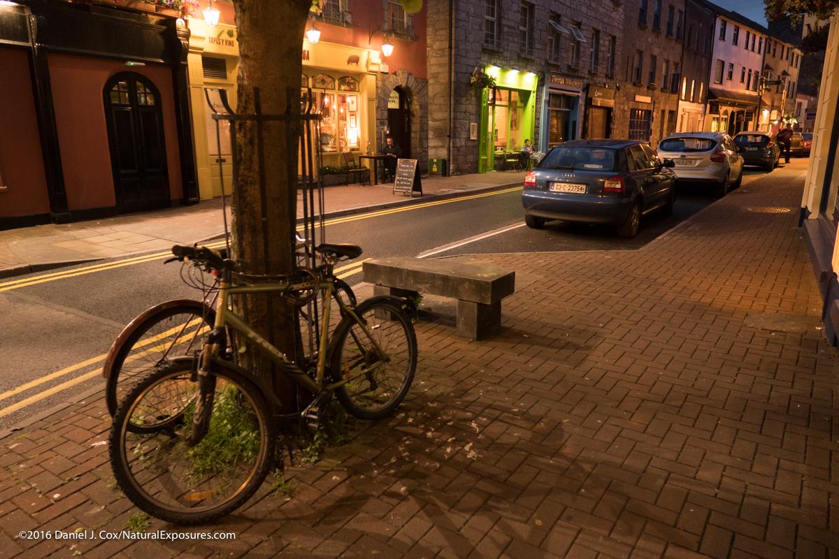 City lights on the streets of Gallway, Ireland GX8, 12mm F/1.4 ISO 2000