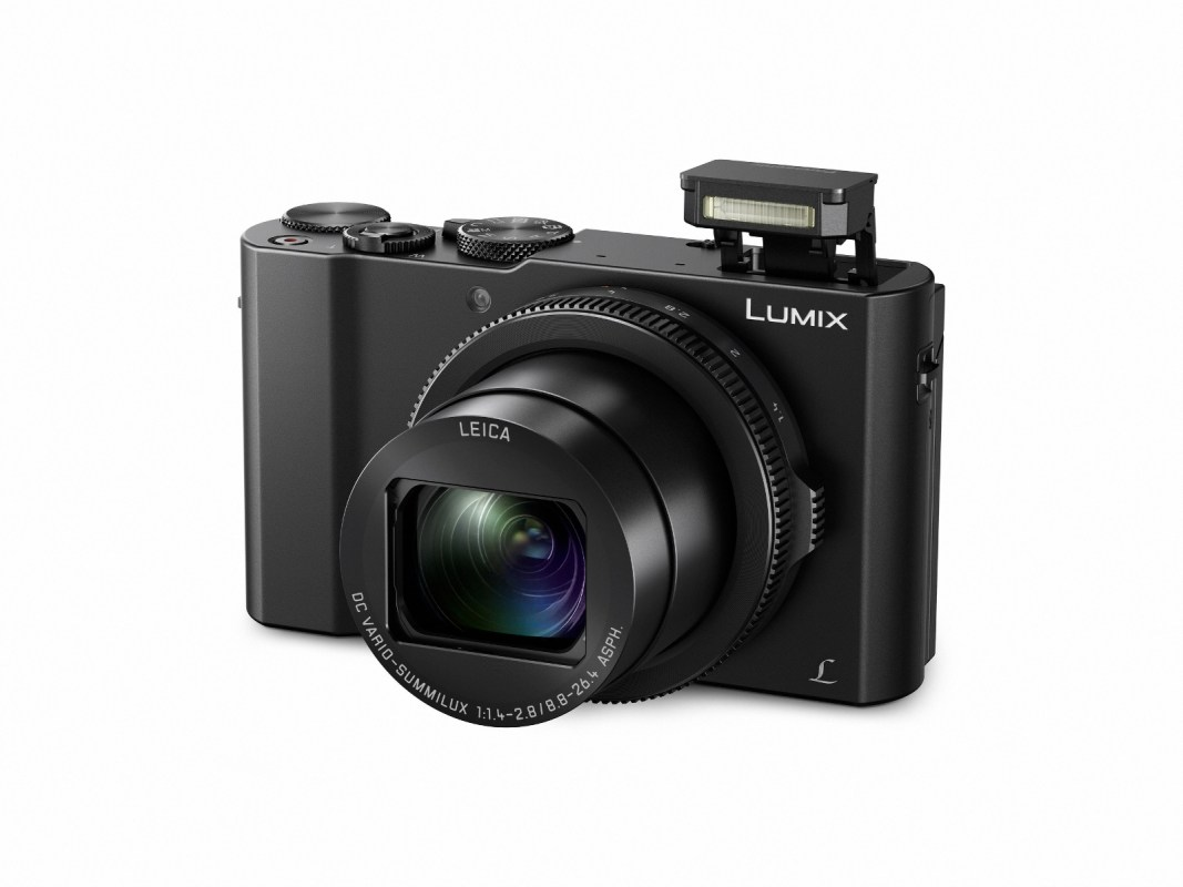 The Lumix LX10 with a F1.4-2.8 aperture (35mm camera equivalent: 24-72mm) lens.