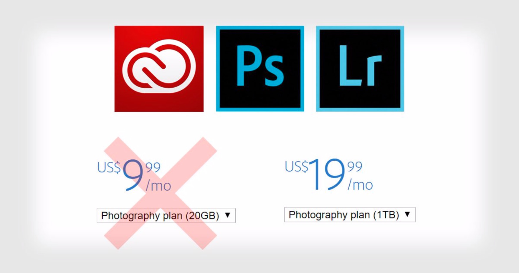Adobe Price Increase on LightRoom & Photoshop Takes Effect
