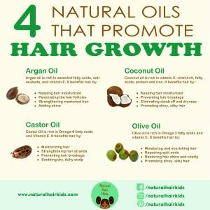 natural hair oils that grow hair
