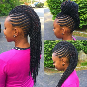 hairstyles for teens braided mohawk bun